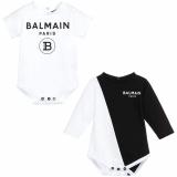 Balmain Baby Monochrome Bodysuit And Onesie Gift Set, BLACK/WHITE / 9M