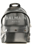 Balmain Backpack for Women On Sale, Silver, Leather, 2021