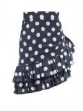 Balmain – Ruffled Polka-dot Silk-georgette Mini Skirt – Womens – Navy Multi