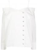 Balmain buttoned silk shirt – White