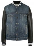 Balmain denim bomber jacket – Blue