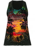 Balmain sequin embellished tank top – Black