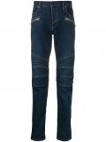Balmain slim fit biker jeans – Blue