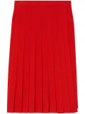 Burberry Cady pleated midi skirt – Red