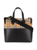 Burberry Kids vintage check shoulder bag – Black
