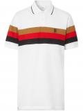 Burberry Monogram motif striped polo shirt – White