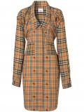 Burberry Vintage Check Silk and Cotton Shirt Dress – Neutrals