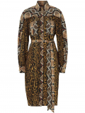 Burberry animal print shirt dress – Brown