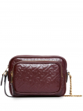 Burberry monogram leather camera bag – Red