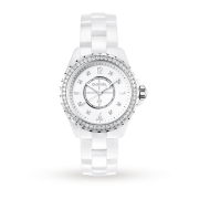 Chanel J12 White Ceramic and Diamond H3110 33mm