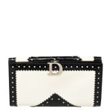 Dior Black/White Brogues Patent Leather Continental Wallet