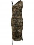 Dolce & Gabbana leopard print ruched dress – Neutrals