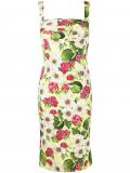 Dolce & Gabbana rose print charmeuse midi dress – Yellow