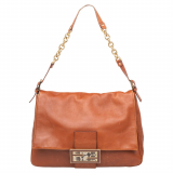 Fendi Brown Leather Big Mama Shoulder Bag