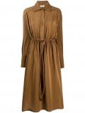 Fendi crêpe de Chine shirt dress – Brown