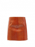 Givenchy – Crocodile-effect Leather Mini Skirt – Womens – Brown