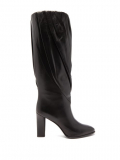 Givenchy – Gathered Knee-high Leather Boots – Womens – Black