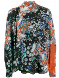 Givenchy floral turtle neck blouse – Red