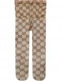 Gucci GG pattern tights – Brown