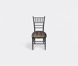 Gucci Seating – 'Chiavari' chair, black in Black, beige Wood Jacquard Chair