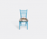 Gucci Seating – 'Chiavari' chair, light blue in Blue Wood, Fabric, Embroidery