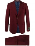Gucci slim-fit two-piece suit – Red