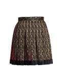 La Greca Silk Pleated Mini Skirt