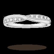 Ladies 3mm platinum 0.09 total carat weight diamond set k …