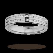 Ladies double row diamond set wedding ring in 9 carat white gold – Ring Size R