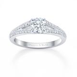 Mappin & Webb Frensham Platinum 0.97cttw Diamond Engagement Ring
