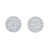 Mappin & Webb Masquerade 18ct White Gold 0.59cttw Diamond Stud Earrings