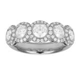 Mappin & Webb Platinum 1.76ct Bezel Eternity Ring – Ring Size M