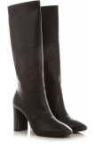 Prada Boots for Women, Booties, Black, Calfskin Leather, 2021, 5 6.5