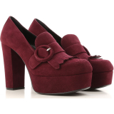 Prada Pumps & High Heels for Women On Sale in Outlet, Garnet, Suede leather, 2021, 3.5 5