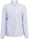 Prada striped pongé blouse – Blue