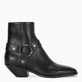 Saint Laurent Black West Harness ankle boots