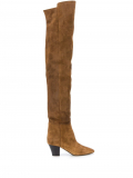 Saint Laurent thigh-high boots – Brown