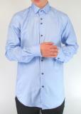 Sky Blue Self-Stripe Cotton Twill Shirt