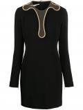 Stella McCartney Isabela chain-trim mini-dress – Black