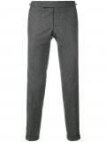 Thom Browne Seamed Elastic Stripe Skinny Wool Trouser – Grey