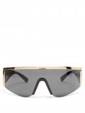 Versace Eyewear – Shield Acetate And Metal Sunglasses – Womens – Black Gold