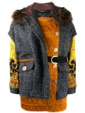 Versace patchwork oversized jacket – Black