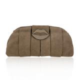 Yves Saint Laurent Pink Suede Lips Clutch Evening Bag, Pink