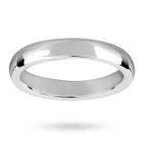 new Mappin & Webb 4mm heavy court gents wedding ring in 18 carat white gold – Ring Size V