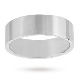 new Mappin & Webb 7mm flat top medium weight gents court ring in palladium – Ring size P