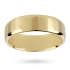 Mappin & Webb 7mm flat comfort fit gents court ring in 18 carat yellow gold – Ring size V