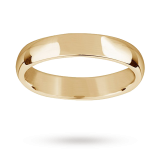 new Mappin & Webb 4mm medium court gents wedding ring in 18 carat yellow gold – Ring Size R