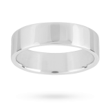 new Mappin & Webb 6mm flat top medium weight gents court ring in 18 carat white gold – Ring size S
